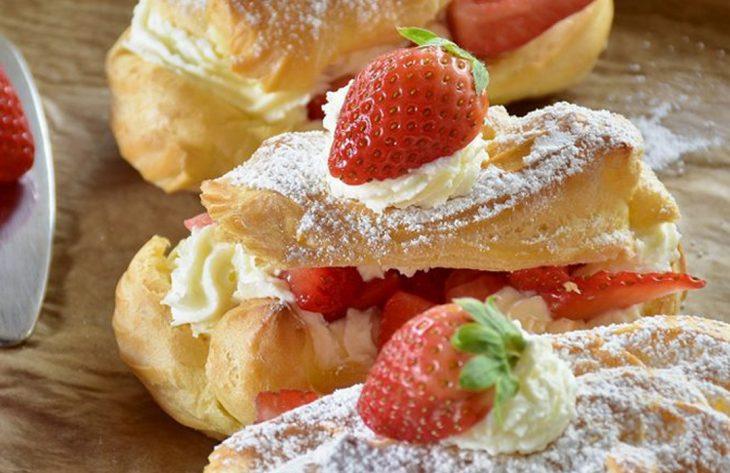 Erdbeer Eclairs